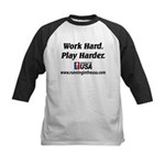 RUSA - Work Hard. Play Harder Kids Baseball Jersey
