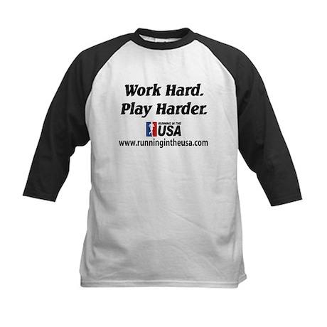 RUSA - Work Hard. Play Harder Kids Baseball Jersey