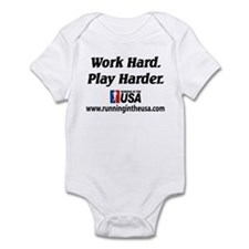 RUSA - Work Hard. Play Harder Infant Bodysuit