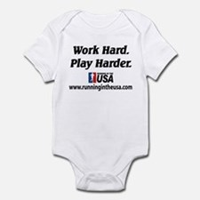 RUSA - Work Hard. Play Harder Infant Bodysuit