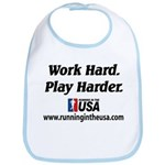 RUSA - Work Hard. Play Harder Bib