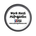 RUSA - Work Hard. Play Harder Wall Clock