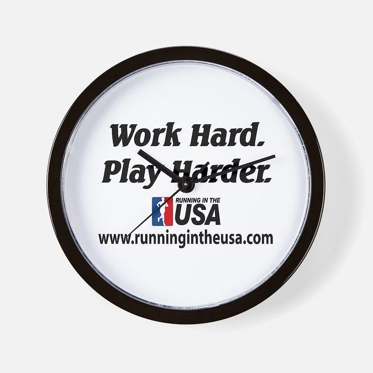 RUSA - Work Hard. Play Harder Wall Clock