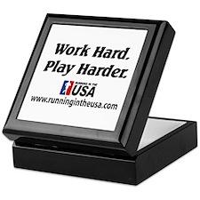 RUSA - Work Hard. Play Harder Keepsake Box