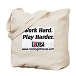 RUSA - Work Hard. Play Harder Tote Bag
