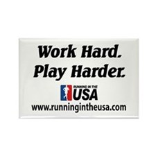 RUSA - Work Hard. Play Harder Rectangle Magnet
