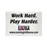 RUSA - Work Hard. Play Harder Rectangle Magnet (10