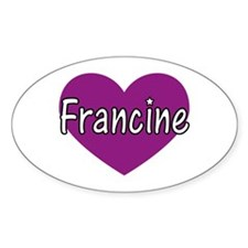 Francine Oval Decal