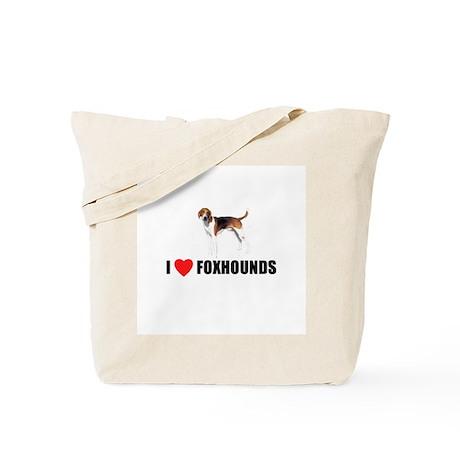 I Love Foxhounds Tote Bag