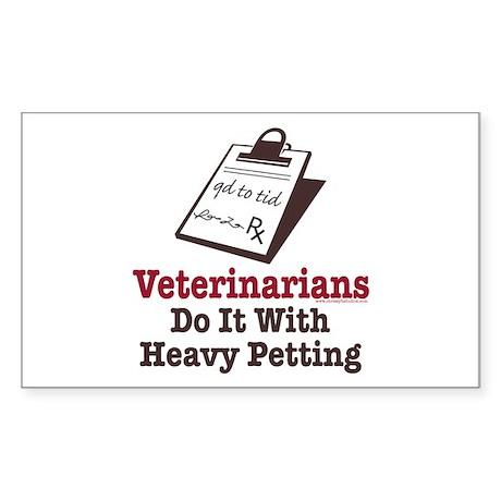 Funny Veterinary Veterinarian Sticker (Rectangular
