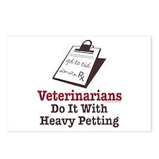 Funny Veterinary Veterinarian Postcards (Package o