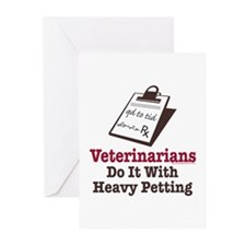 Funny Veterinary Veterinarian Greeting Cards (Pk o