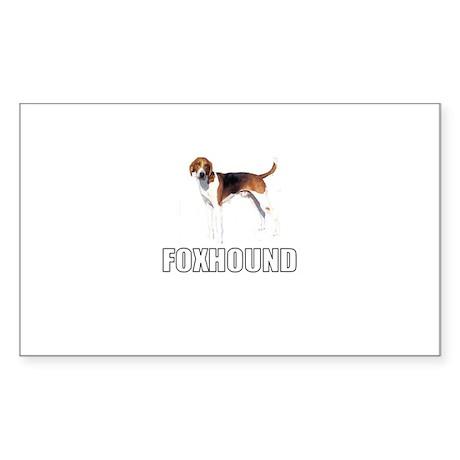 Foxhound Rectangle Sticker