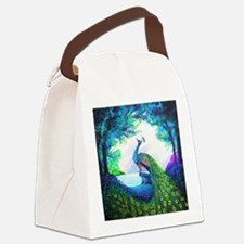 Unique Peacock Canvas Lunch Bag