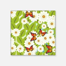Daisies and butterflies Sticker