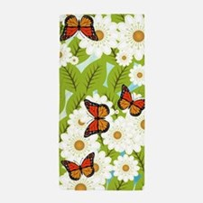 Daisies and butterflies Beach Towel