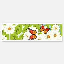 Daisies and butterflies Bumper Bumper Bumper Sticker