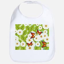 Daisies and butterflies Bib