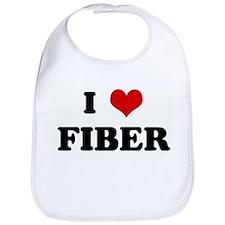 I Love FIBER Bib