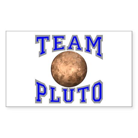 Team Pluto II Rectangle Sticker