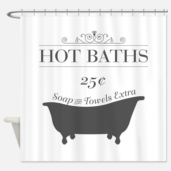 Hot Bath Shower Curtain