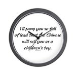 Lead Chinese Toys Wall Clock
