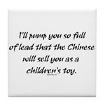 Lead Chinese Toys Tile Coaster