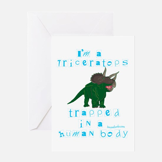 I'm a Triceratops Greeting Card