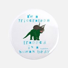 """I'm a Triceratops 3.5"""" Button"""