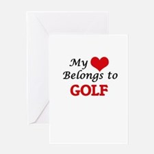 My heart belongs to Golf Greeting Cards