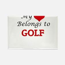 My heart belongs to Golf Magnets