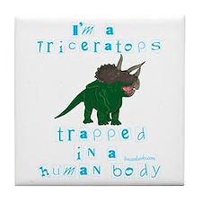 I'm a Triceratops Tile Coaster