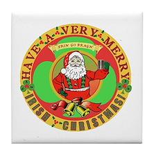 Merry Irish Christmas! Tile Coaster