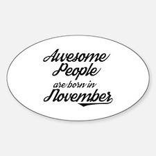 Cute November Sticker (Oval)