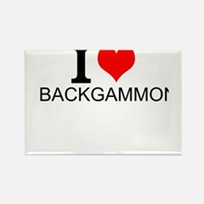 I Love Backgammon Magnets