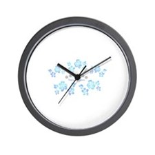 Tropical blossom Wall Clock