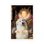 Queen / Gr Pyrenees #3 Sticker (Rectangle)