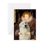 Queen / Gr Pyrenees #3 Greeting Cards (Pk of 10)