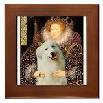 Queen / Gr Pyrenees #3 Framed Tile