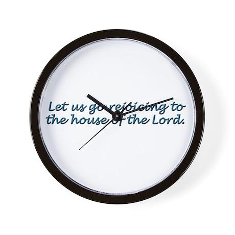 Let Us Go Rejoicing Wall Clock