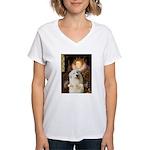 Queen / Gr Pyrenees #3 Women's V-Neck T-Shirt