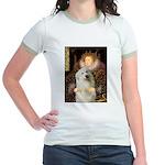 Queen / Gr Pyrenees #3 Jr. Ringer T-Shirt