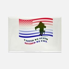 UNITED WE STAND DIVIDED WE FALL Rectangle Magnet