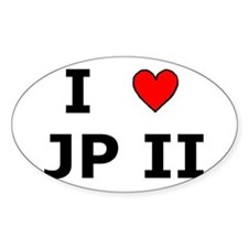 I Love JPII Oval Decal