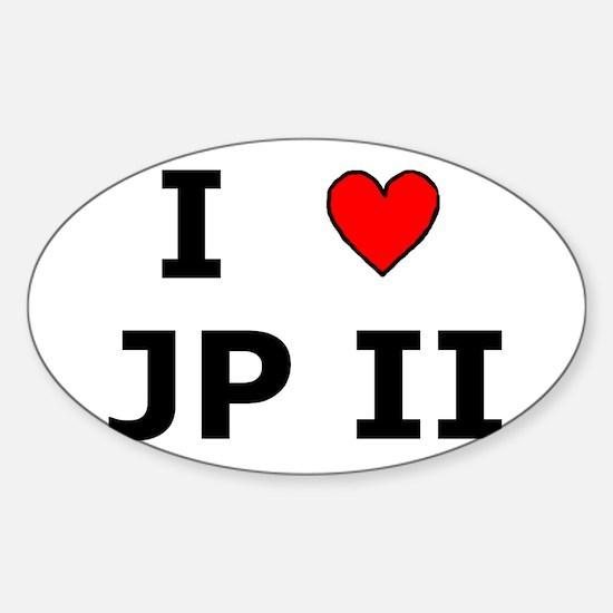 I Love JPII Oval Decal