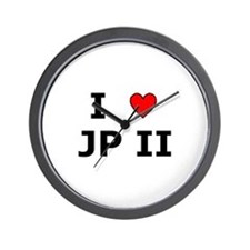 I Love JPII Wall Clock