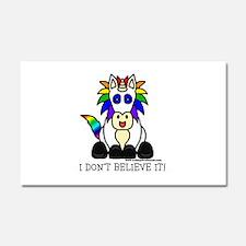 I Don't Believe It Unicorn Car Magnet 20 x 12
