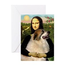 Mona / Gr Pyrenees Greeting Card