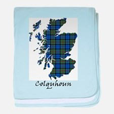 Map - Colquhoun baby blanket