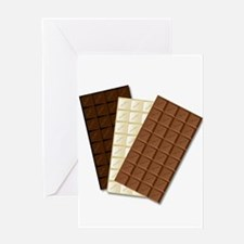 White Chocolate Bar Greeting Cards